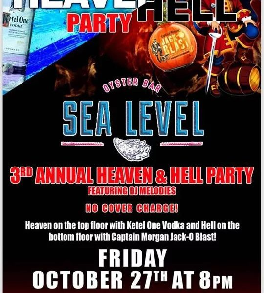 things to do in salem ma, heaven and hell party, sea level oyster bar