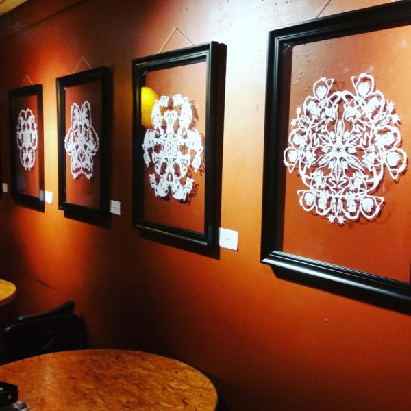 things to do in salem, semibad snowflakes art show, front street coffee house salem